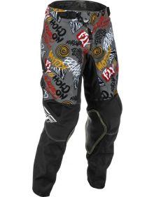 Fly Racing 2022 Kinetic Rebel Youth Pants Black/Grey