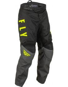 Fly Racing 2022 F-16 Youth Pant Grey/Black/Hi-Vis