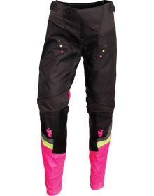 Thor 2022 Pulse Rev Womens Pants Charcoal/Flo Pink
