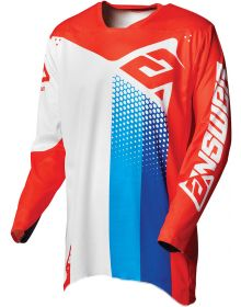 Answer 2021 Elite Pace Jersey White/Red/Hyper Blue