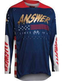 Answer Racing A22 Elite Redzone Jersey Answer Red/White/Blue