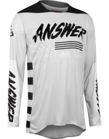 Answer Racing A22 Elite Redzone Jersey Ghost/Black