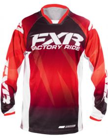 FXR Mission Air MX Jersey Red Fade/White