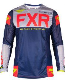 FXR 2019 Helium LE MX Jersey Navy/Lt-Grey/Red/Hi-Vis