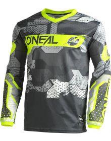 O'Neal 2022 Element Camo Jersey Grey/Neon Yellow