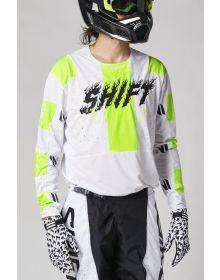 Shift MX Black Label Flame Jersey White