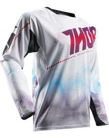 Thor 2017 Fuse Air Lit Jersey White/ Purple