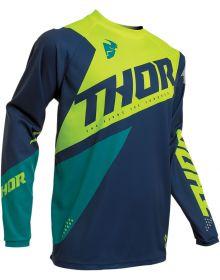 Thor 2020 Sector Blade Jersey Navy/Acid