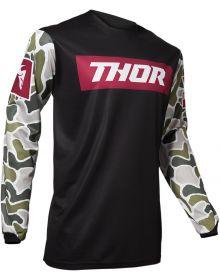 Thor 2020 Pulse Fire Jersey Black/Maroon