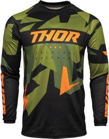 Thor 2021 Sector Warship Jersey Green/Orange
