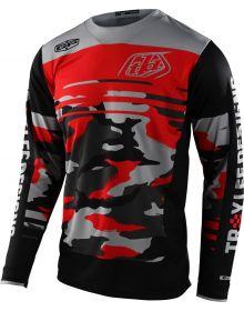 Troy Lee Designs GP Jersey Formula Camo Black/Rocket Red