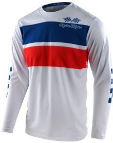 Troy Lee Designs GP Jersey Racing Stripes White