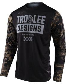 Troy Lee Designs Scout GP Jersey Peace & Wheelies Camo Green