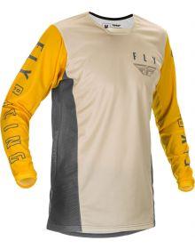 Fly Racing 2021 Kinetic K121 Jersey Mustard/Stone/Grey