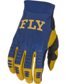 Fly Racing 2022 Evolution DST Gloves Navy/White/Gold