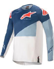 Alpinestars Techstar Factory Jersey Dark Blue/Powder Blue/Off White