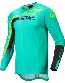 Alpinestars 2022 Supertech Blaze Jersey Black/Pastel Green/Fluo Yellow