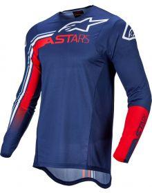 Alpinestars 2022 Supertech Blaze Jersey Bright Red/Dark Blue/White