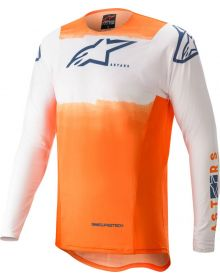 Alpinestars 2022 Supertech Foster Jersey White/Orange/Dark Blue