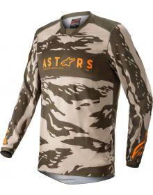 Alpinestars 2022 Racer Tactical Jersy Military/Sand Camo/Tangerine