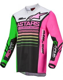 Alpinestars 2022 Racer Compass Jersey Black/Neon Green/Fluo Pink