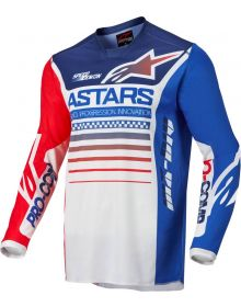 Alpinestars 2022 Racer Compass Jersey Off White/Fluo Red/Blue