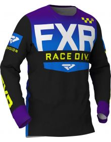 FXR 2020 Helium MX jersey Black/Purple/Blue Fade