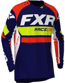 FXR 2020 Revo MX Jersey Navy/Hi Vis/Nuke Red
