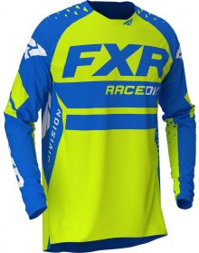 FXR 2020 Revo MX Jersey Blue/Hi Vis/White