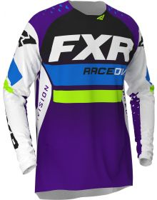 FXR 2020 Revo MX Jersey White/Purple/Lime