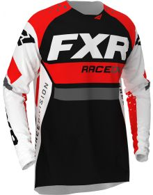 FXR 2020 Revo MX Jersey White/Red/Charcoal/Black