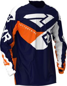 FXR 2020 Podium MX Jersey Midnight/White/Orange