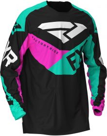 FXR 2020 Podium MX Jersey Black/Mint/Pink