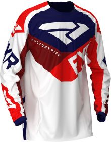 FXR 2020 Podium MX Jersey Navy/White/Red/Maroon