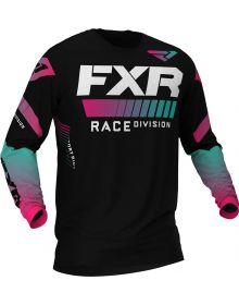 FXR 2020 Helium LE MX Jersey Black/Mint/Coral Fade