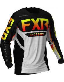 FXR 2021 Podium MX Jersey Black/Red/Hi-Vis/Grey Aztec