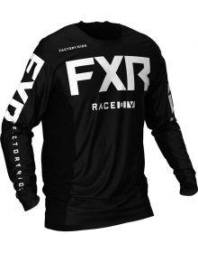 FXR 2021 Podium MX Jersey Black/White