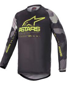 Alpinestars Racer Tactical Youth Jersey Gray Camo/Yellow Flourecnet