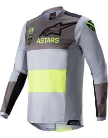 Alpinestars Racer AMS21 LE Youth Jersey Gray/Yellow Fluo/Black