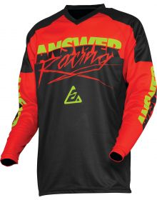 Answer 2020 Syncron Pro Glow Youth Jersey Red/Black/Hyper Acid