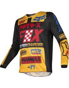 Fox Racing 2019 Youth Jersey 180 Czar Black/Yellow