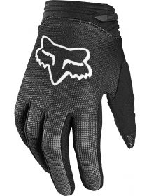 Fox Racing 180 Oktiv Youth Girls Gloves Black/White