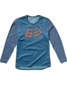 Fox Racing MTB Ranger Longsleeve Youth Jersey Blue Steel