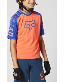 Fox Racing MTB Ranger Drirelease Youth Jersey Atomic Punch