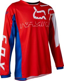 Fox Racing 180 Skew Youth Jersey White/Red/Blue