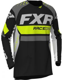 FXR 2020 Revo Pro-Stretch Youth MX Jersey Hi Vis/Black/Charcoal