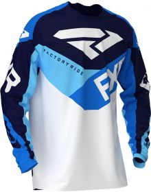 FXR 2020 Clutch Air Youth MX Jersey White/Navy/Blue