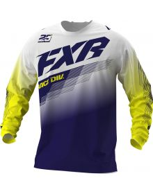 FXR 2021 Clutch Youth MX Jersey White/Navy/Yellow