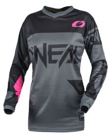 O'Neal 2021 Element Racewear Youth Girls Jersey Gray/Pink