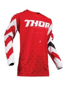 Thor 2019 Pulse Stunner Youth Jersey Red/White